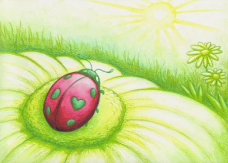 Ladybug Events Card Background
