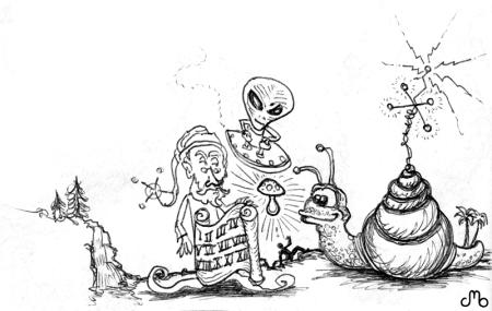 Wizard Alien Snail