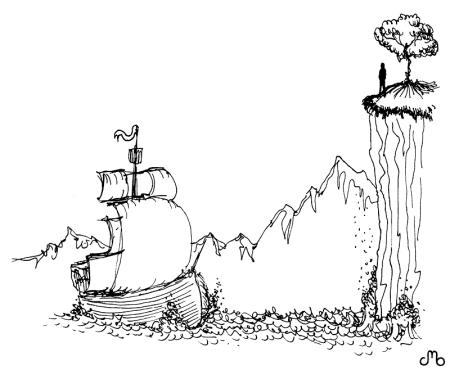 Ship & Cliff
